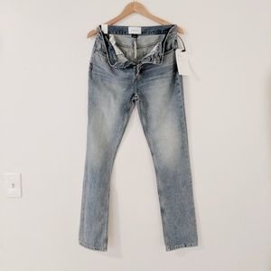 NWT Current/Elliott Distressed Stovepipe Jeans